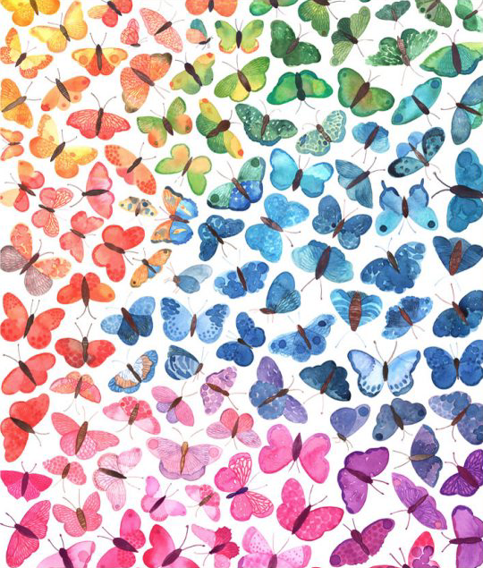 Image of Greeting Card - Ombré Butterflies