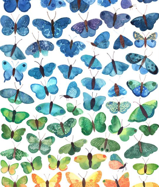 Image of Greeting Card - Butterfly Blues