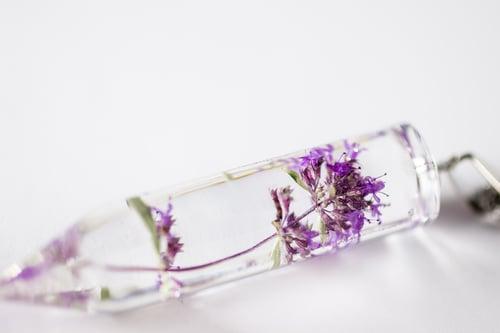 Image of Wild Thyme (Thymus serpyllum) - Medium Crystalline Pendant #3