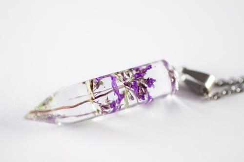 Image of Wild Thyme (Thymus serpyllum) - Small Crystalline Necklace #1