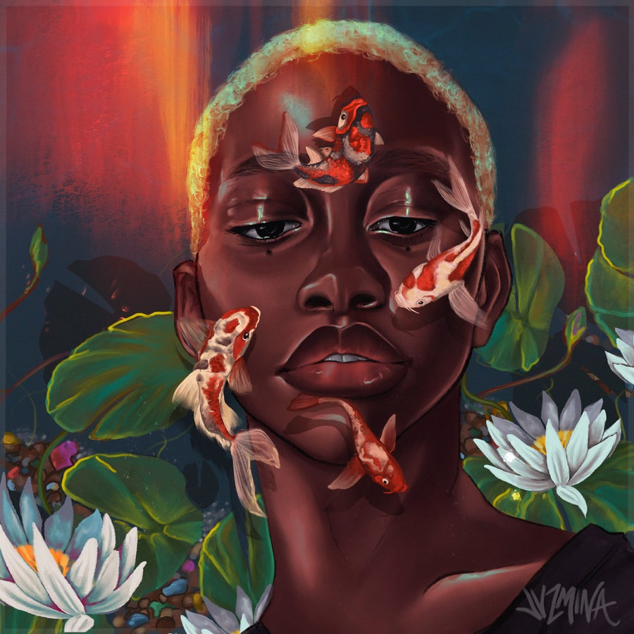 "Image of ""Koi"" Canvas"