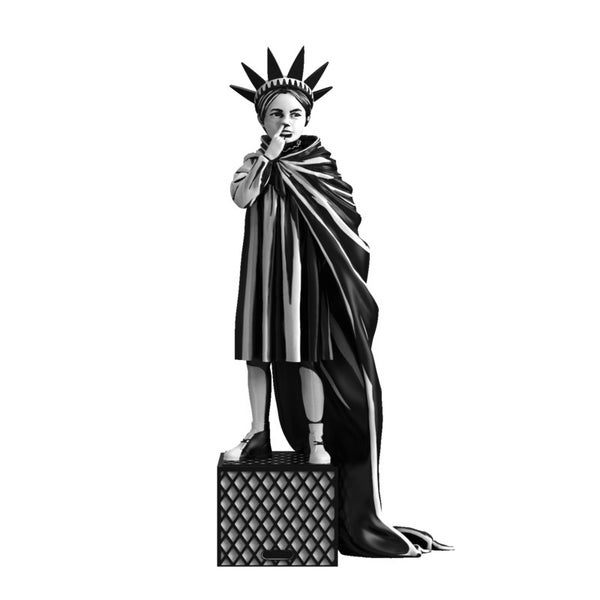 Image of BANKSY - Liberty Girl - FINAL COPIES