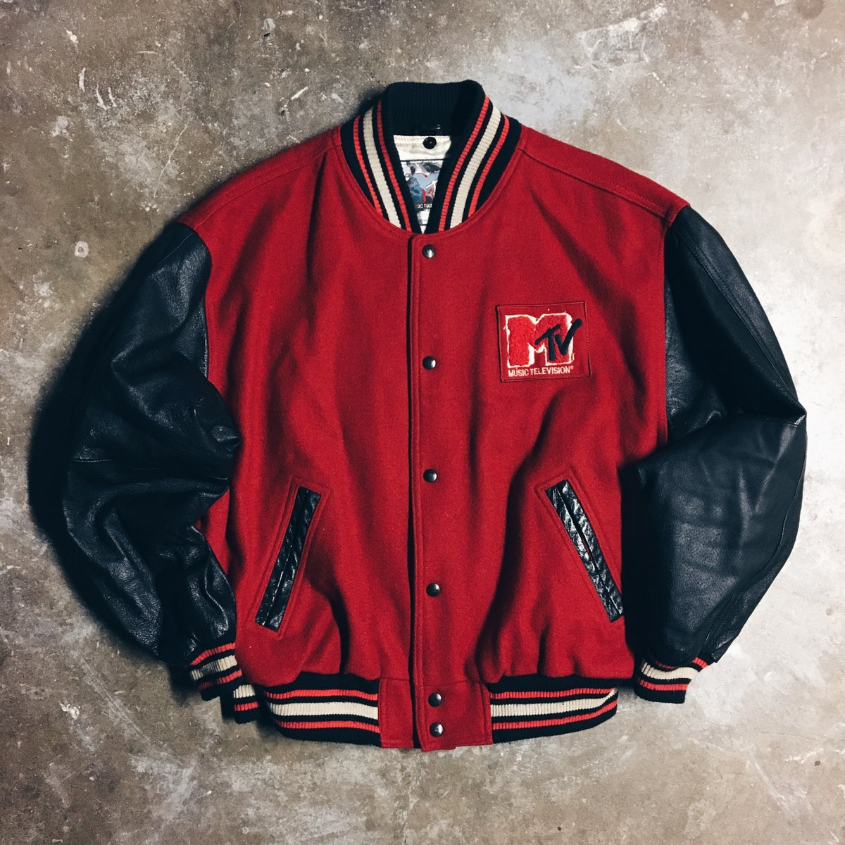Image of Original 1992 MTV Varsity Jacket.