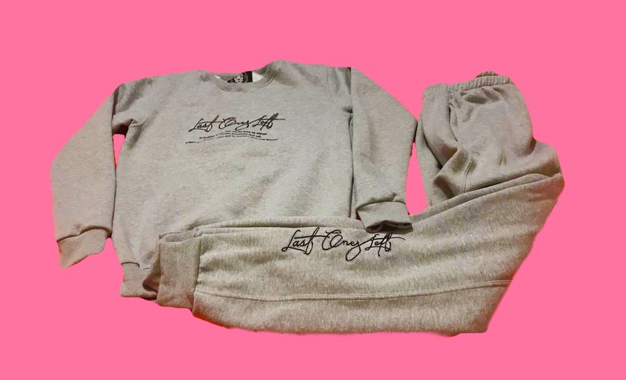 Image of Last Ones Left Grey Sweatsuit Set