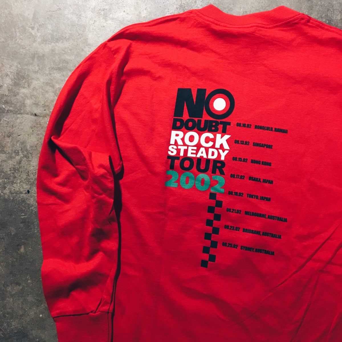 Image of Original 2002 No Doubt Rock Steady L/S Tour Tee.