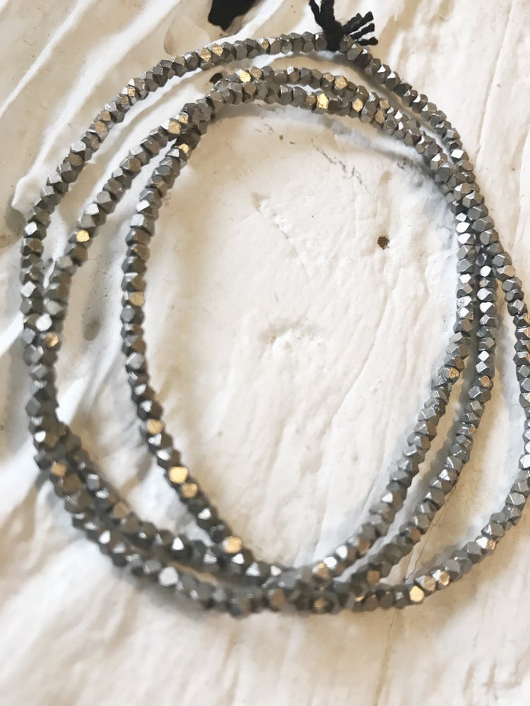 Image of Tiny Silver Beaded Necklace #100