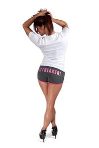 Image of Grey/Pink Booty Shorts