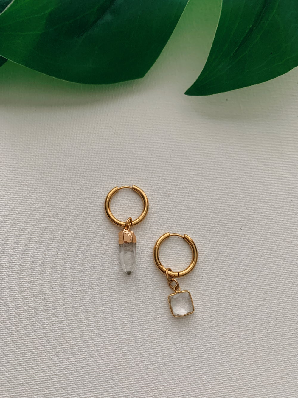 Image of MOXIES • Clear Quartz Earrings