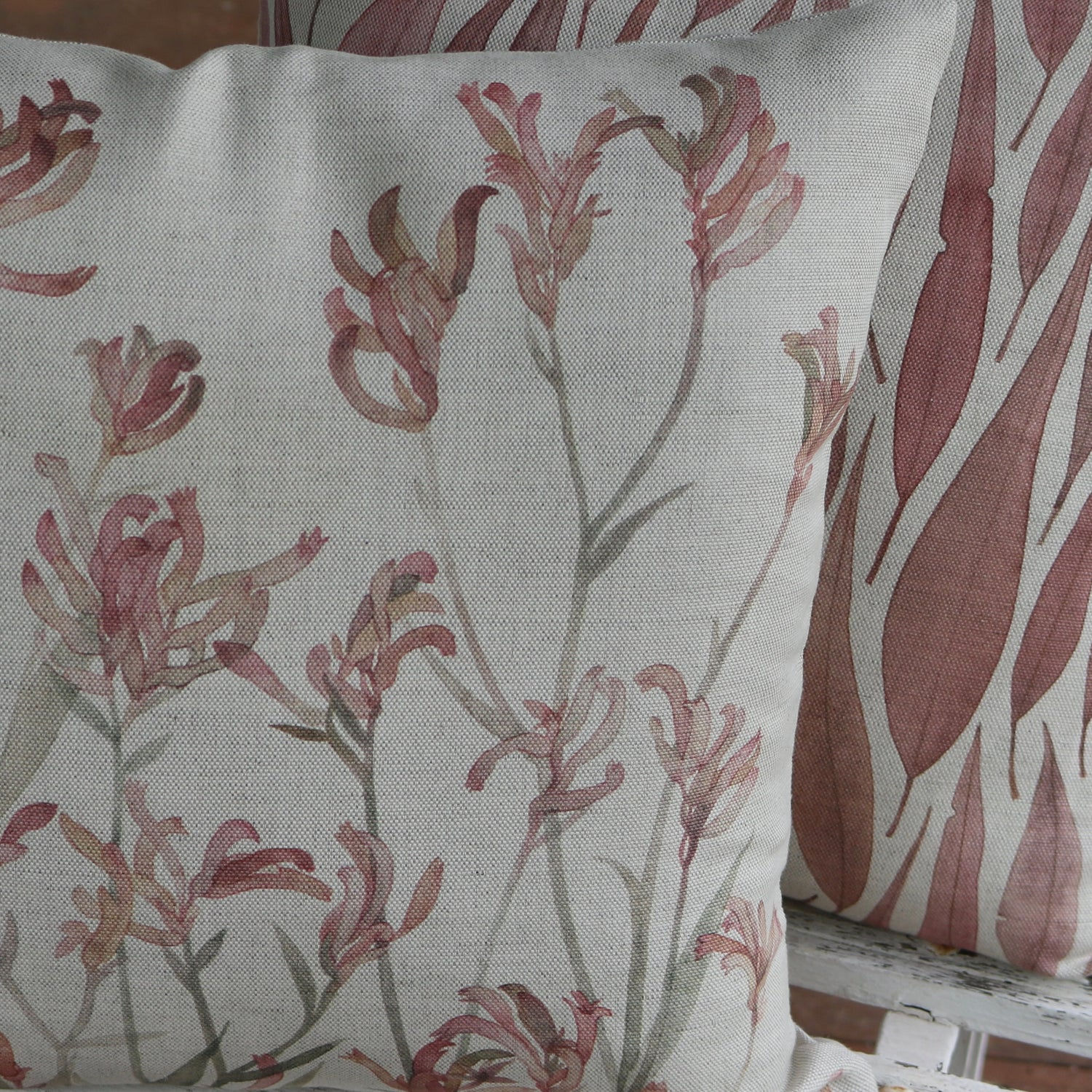 Image of Kangaroo Paw Belgian Cotton Linen Cushion Cover