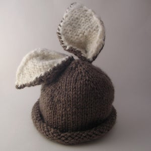 Image of Briar Bunny Baby Hat Knitting Pattern