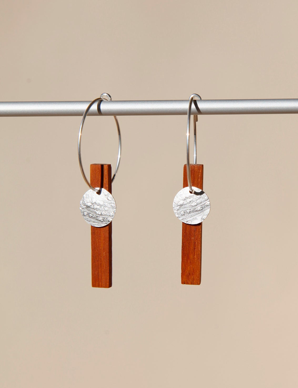 Image of EARRINGS. Silver-Palo Rosa. -20% DISCOUNT