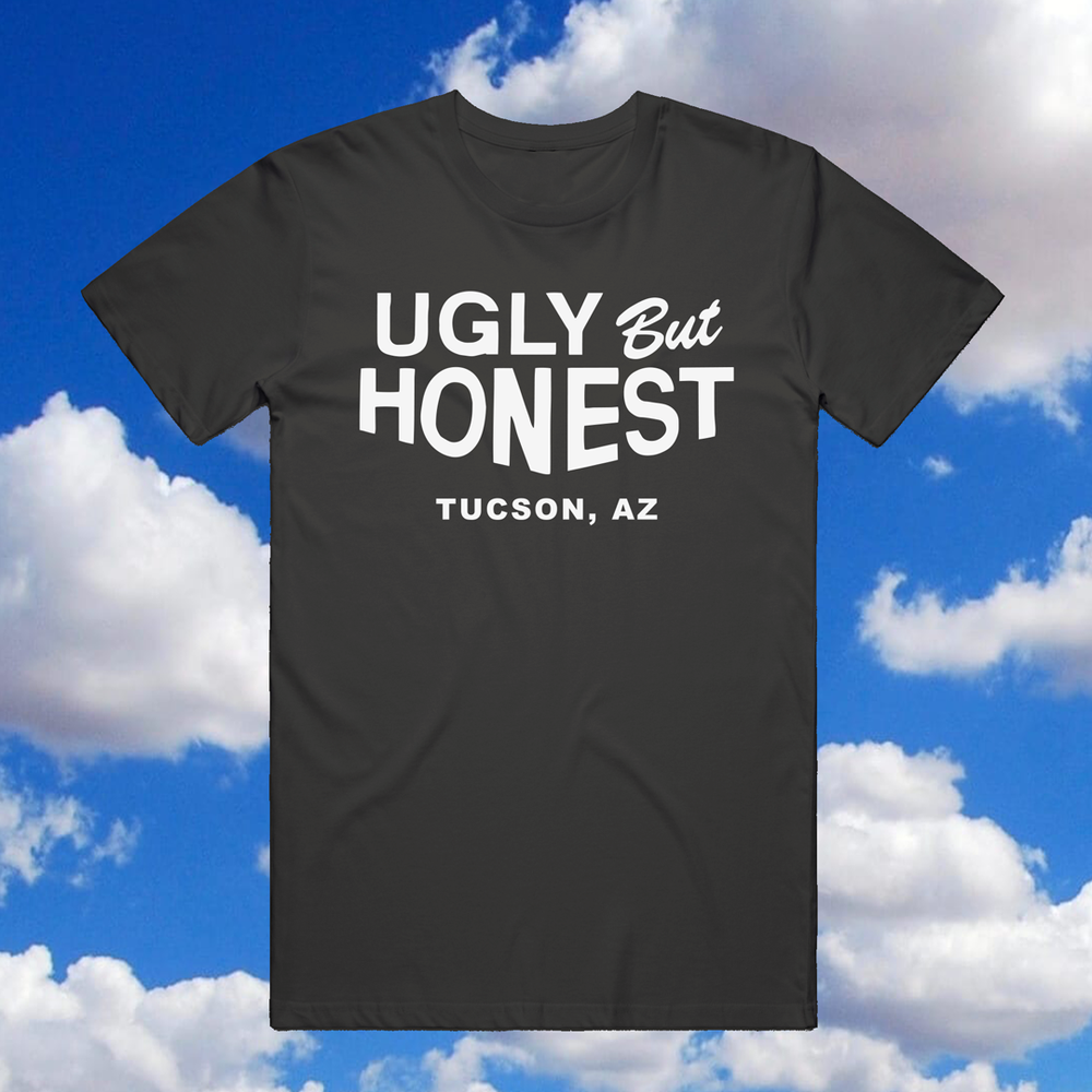"Image of ""UGLY BUT HONEST"" - BLACK UNISEX TEE"