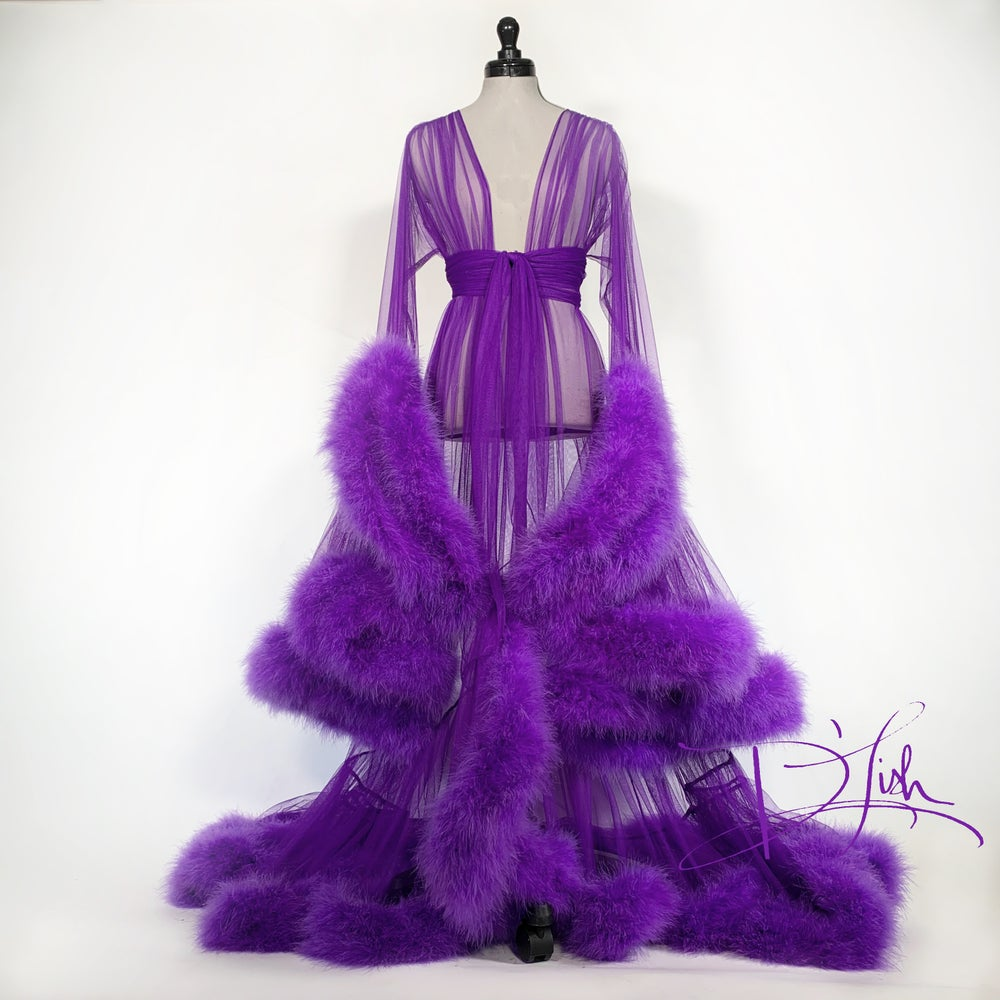 Image of Imperial Grape Cassandra Dressing Gown