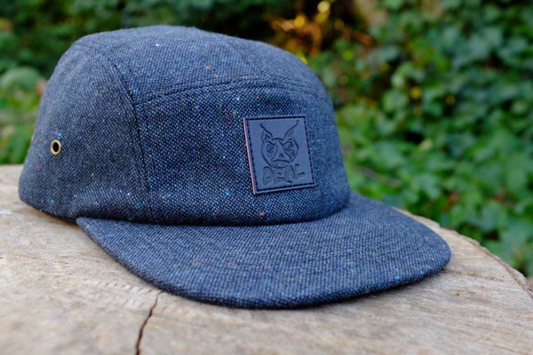 Image of Navy Tweed DWI 5 Panel Hat