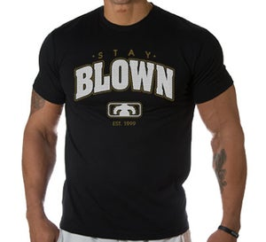 Image of Men's STAY BLOWN T Shirt - Black