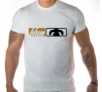 Image of Men's BLOWN BOX LOGO T Shirt - White