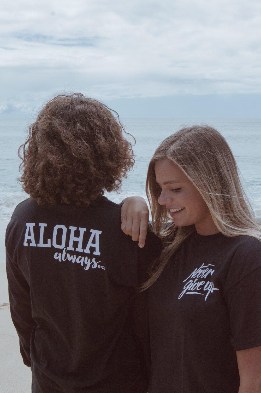 Image of Never Give Up/Aloha Always Long Sleeve