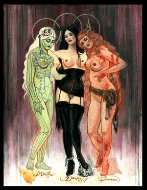 Image of CANVAS GICLEE The Three Graces