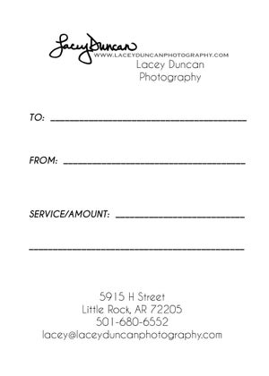 Image of Gift Certificate for Any Amount