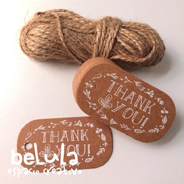 Image of Etiquetas kraft: thank you I