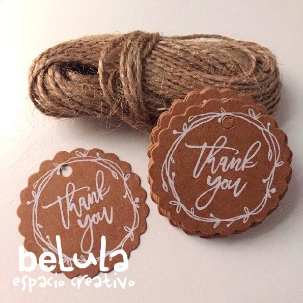Image of Etiquetas kraft: thank you II