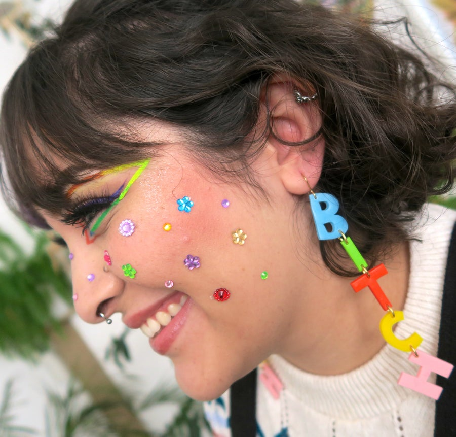 Image of B+tch - Make your own custom earrings
