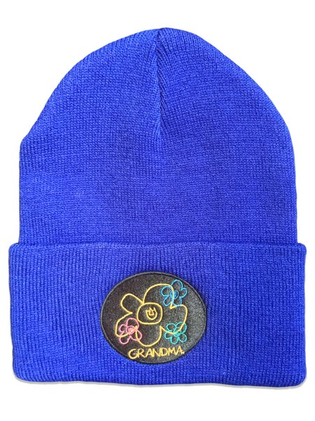 Image of Embroidered Logo Beanie (Blue)