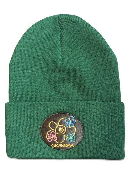 Image of Embroidered Logo Beanie (Green)