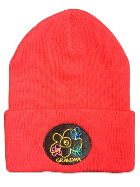 Image of Embroidered Logo Beanie (Red)
