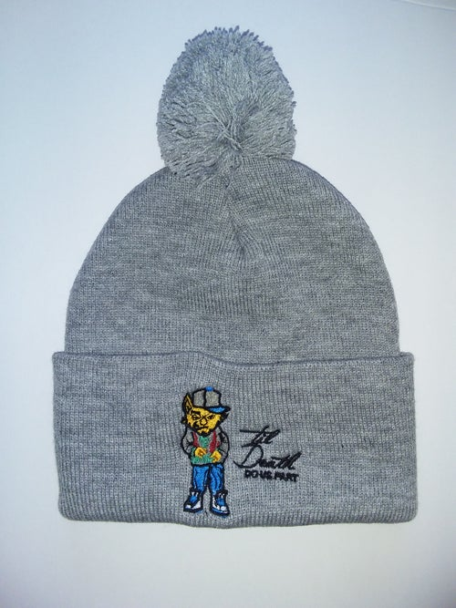 Image of  Embroidery Character Skully With POM