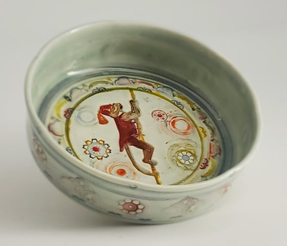 Image of Climbing Monkey Small Porcelain Dish
