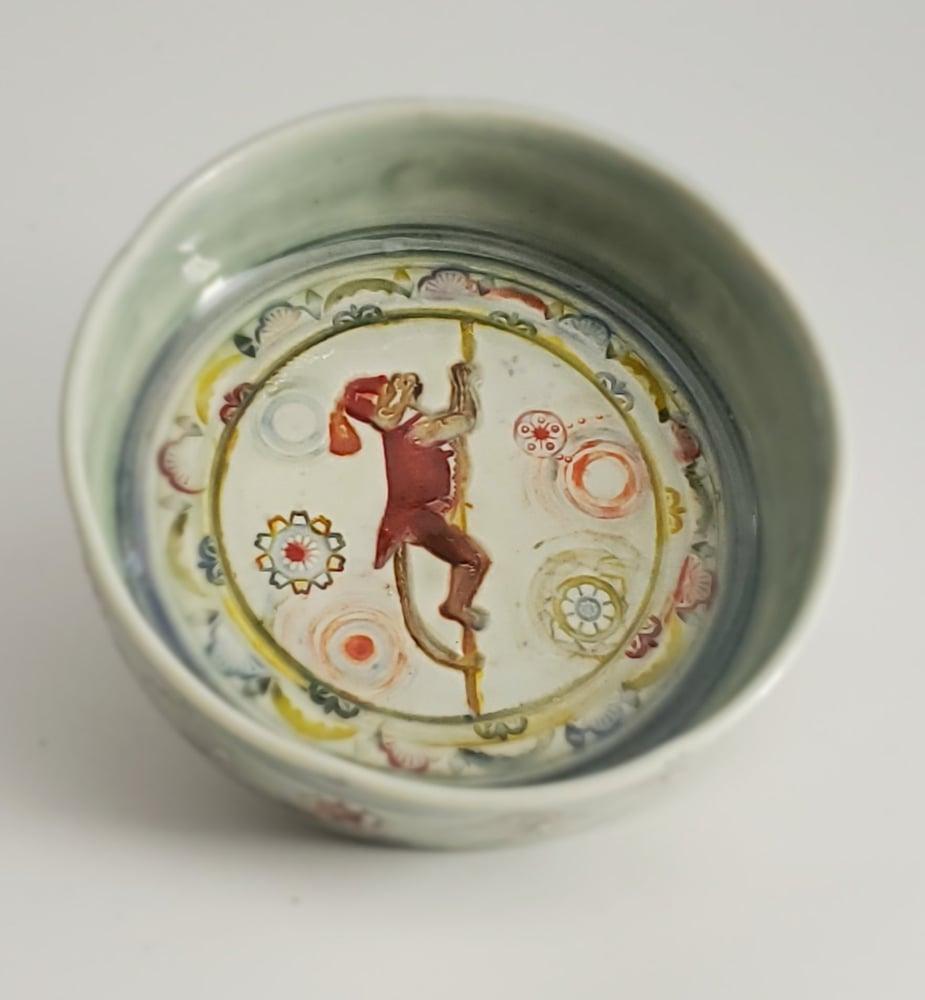 Image of Climbing Monkey Small Porcelain Dish