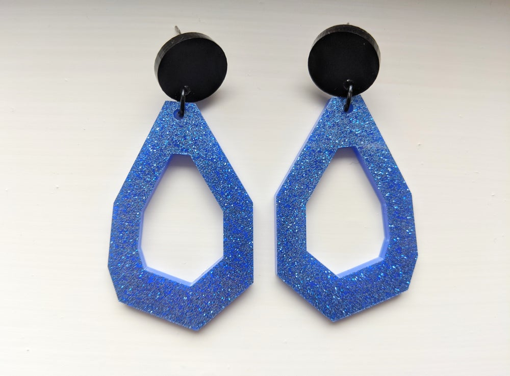 Image of Geo Blue Glitter