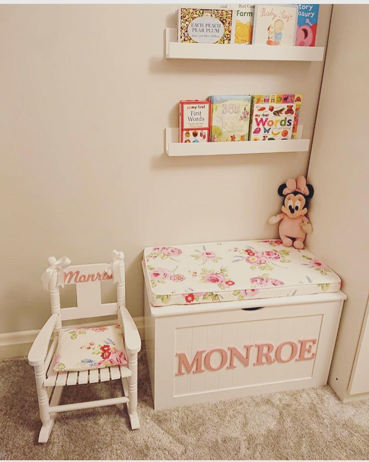 Image of **XMAS BUNDLE 2** - CUSHION TOP CHEST & ROCKING CHAIR WITH CUSHION