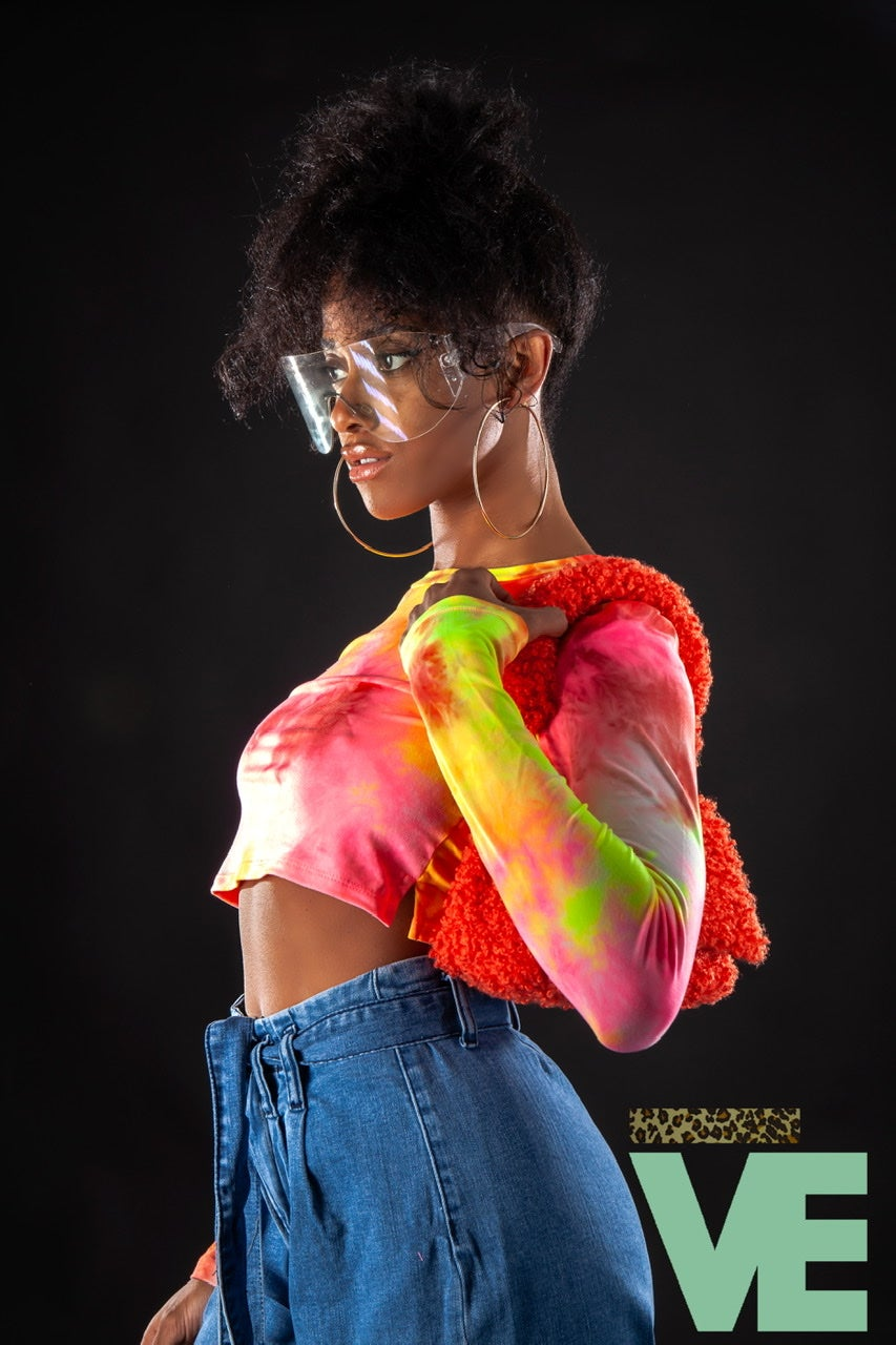 Image of Tie Dye Crop Top