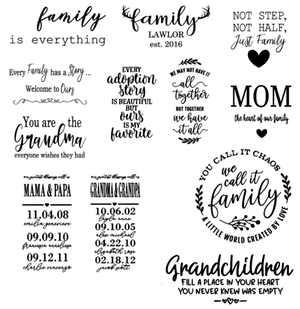 Image of Family Designs Collection - 12x18 Unframed Wood Sign