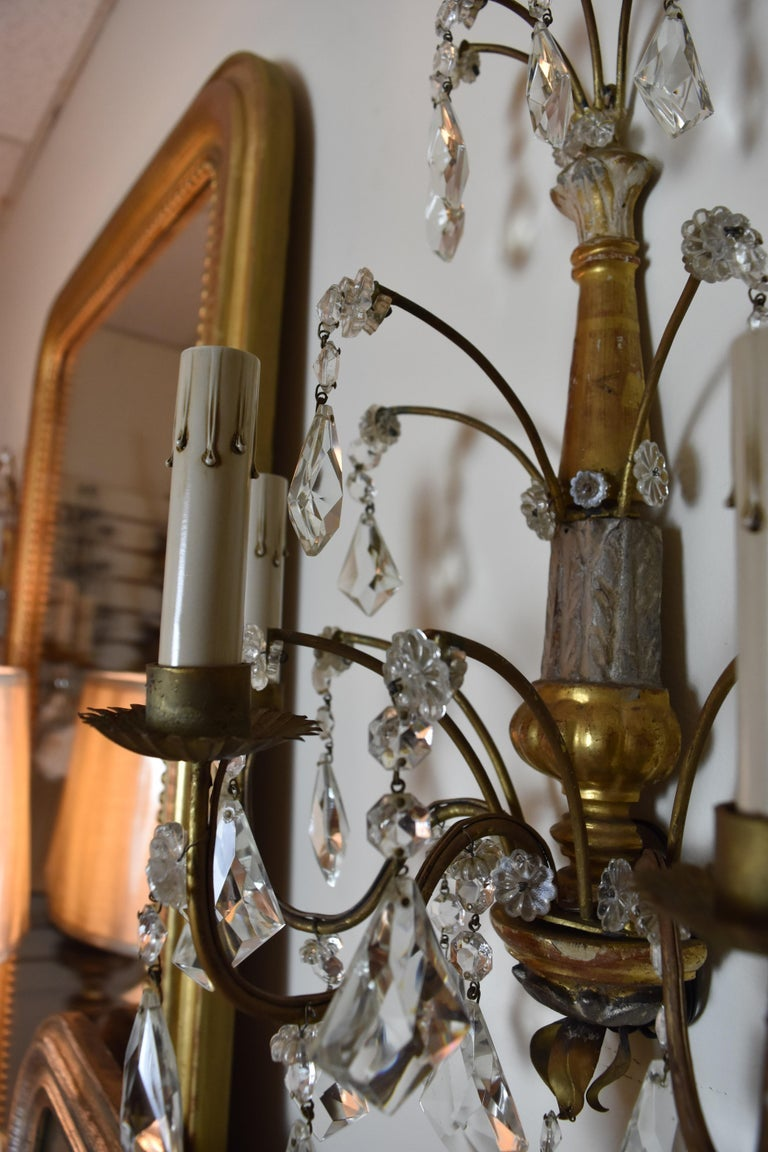 Image of Pair of 19th Century Italian Genovese Sconces