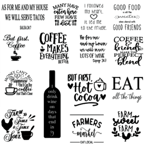 Image of Kitchen Designs Collection - 12x12 Unframed Wood Sign