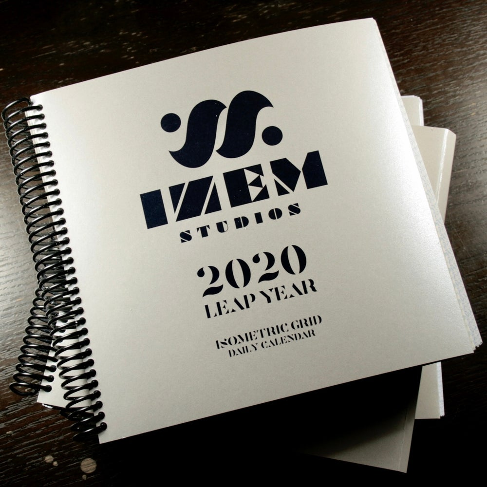 Image of 2020 LEAP YEAR - ISOMETRIC GRID DAILY DESK CALENDAR