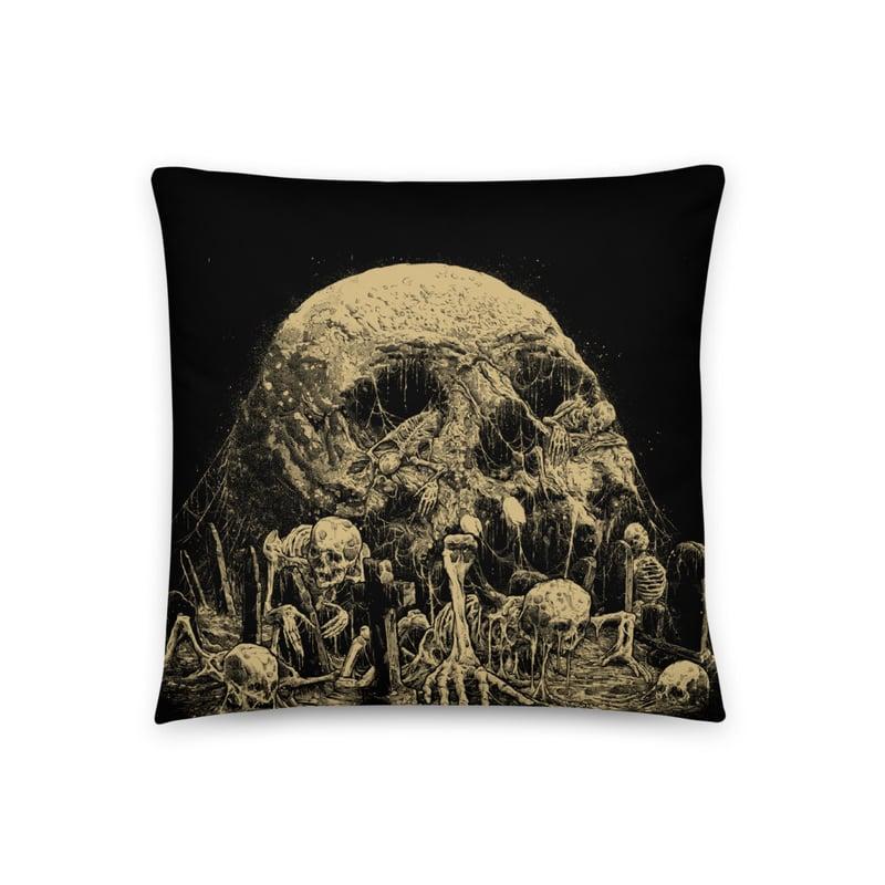 Image of Graveyard Throw Pillow