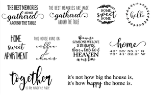 """Image of For The Home Designs Collection - 18"""" Round Wood Lazy Susan Sign"""