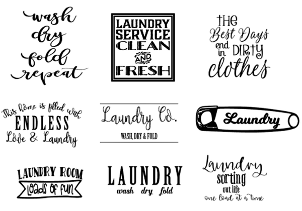 """Image of Laundry Room Designs Collection - 12"""" Round Wood Sign"""