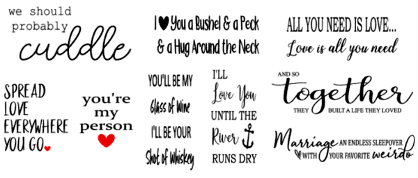Image of Romantic Designs Collection - 12x18 Unframed Wood Sign