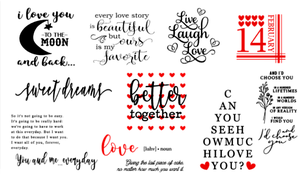 Image of Romantic Designs Collection - 6x24 Unframed Wood Sign
