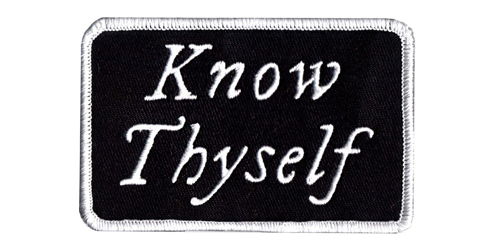 Image of Know Thyself Embroidered Patch