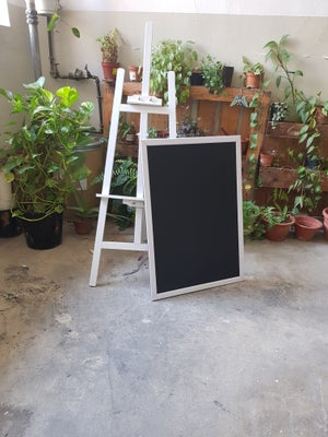 Medium Chalkboard with White Frame on Easel
