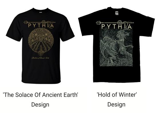 Image of PYTHIA - T-SHIRTS (SELECT TYPE & SIZE)