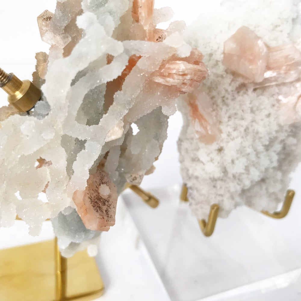 Image of Zeolite no.02 Sugarplum Collection Brass Arc Pairing