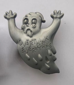 Image of 3D deluxe anxiety ghost pin