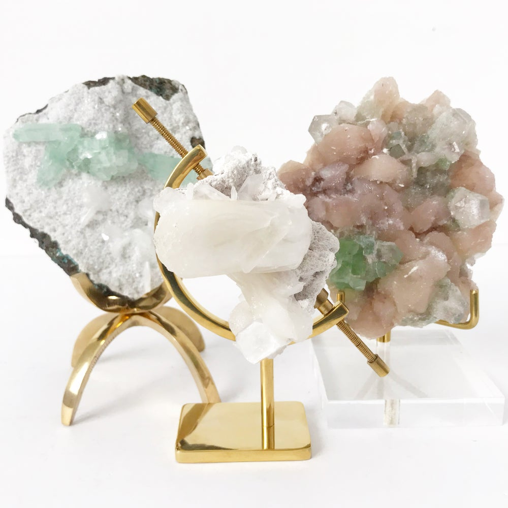 Image of Zeolite no.07 Sugarplum Collection Brass Arc Pairing